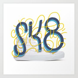 OG Kicks Series | SK8-hi Art Print