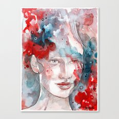 Changes, mixed media artwork Canvas Print