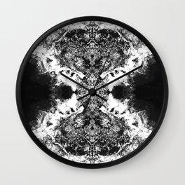 Black Gatria- Abstract Costellation Painting. Wall Clock
