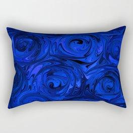 China Blue Rose Abstract Rectangular Pillow
