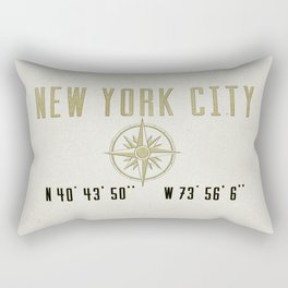 New York City Vintage Location Design Rectangular Pillow