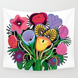Yelapa Flowers Wall Tapestry
