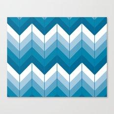 Herringbone - Blue Canvas Print