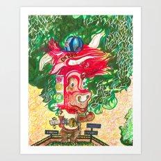 Bear-A-Bull Art Print