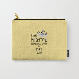Real Pirates are born in MAY T-Shirt Dxdsj Carry-All Pouch