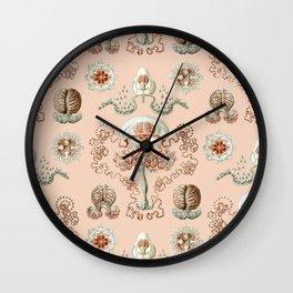 Ernst Haeckel - Jellyfish Scientific Illustration Wall Clock