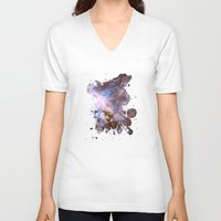 cosmos V-neck T-shirts featuring Cosmos by Spooky Dooky