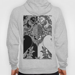 Unity of Halves - Life Tree - Rebirth - Black White Hoody