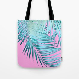 Palm Leaves Pink Blue Vibes #1 #tropical #decor #art #society6 Tote Bag
