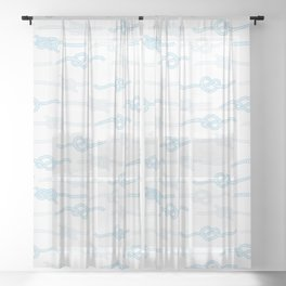 Nautical Ropes Sheer Curtain