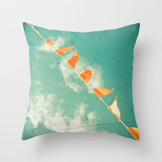 Bunting Throw Pillow