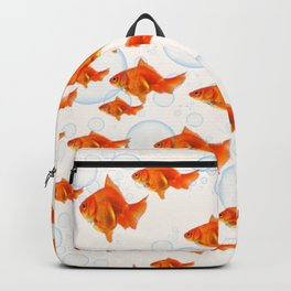 ABSTRACT GOLD FISH SWIMMING ART  DESIGN Backpack