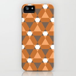 Reception retro geometric pattern iPhone Case