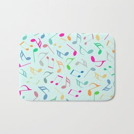 Music Colorful Notes Bath Mat