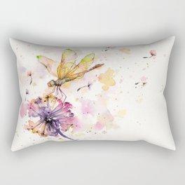Dragonfly & Dandelion Dance Rectangular Pillow