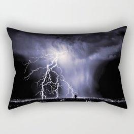 Lightning and Rain Funnel Rectangular Pillow