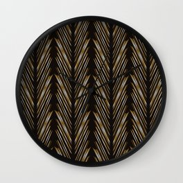 Wheat grass black Wall Clock