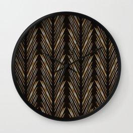 Wheat grass black Wall Clock