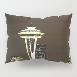 Seattle Space Needle at Night - City Lights Pillow Sham