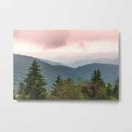 Great Smoky Mountain National Park Sunset Layers III - Nature Photography Metal Print