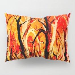 Dark Burning Forest Pillow Sham