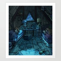 bill cipher Art Prints featuring bill cipher by andy leigh