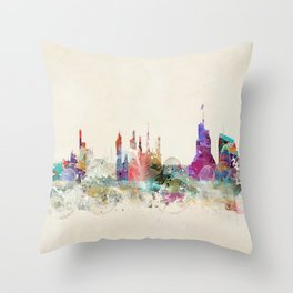 cardiff wales skyline Throw Pillow