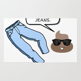 Diarrhea Is Hereditary It Runs In Your Jeans Funny Poop Pun Rug
