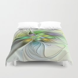 Colors Make My Day, Abstract Fractal Art Duvet Cover
