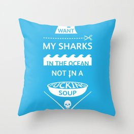 Stop shark finning Throw Pillow