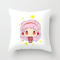 jem Throw Pillows featuring  Estilo jem by guizmo04