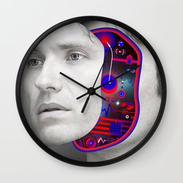Hernan Cattaneo by Sebas Rivas Wall Clock