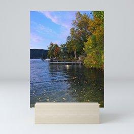 Autumn Arrives at the Lake Mini Art Print