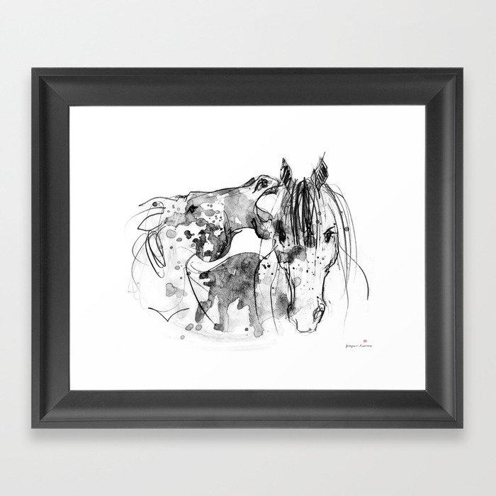 Horses (Socializing) Gerahmter Kunstdruck