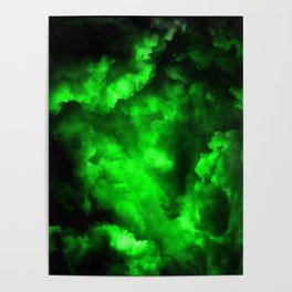 Envy - Abstract In Black And Neon Green Poster