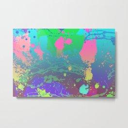 Abstract Urban Painting - Aquarium & Seabed Metal Print