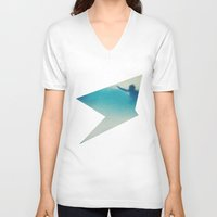surf V-neck T-shirts featuring Surf by Martin Evans
