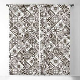azulejos chocolate Blackout Curtain