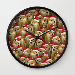Christmas doge Wall Clock