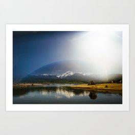 Mount Shuksan over Lake Baker Art Print