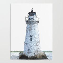 Lighthouse Illustration Poster