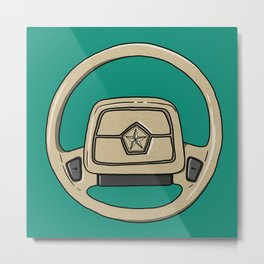 Dodge Shadow Steering Wheel Metal Print