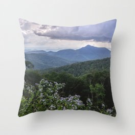 Smoky Mountain Wildflower Adventure - Nature Photography Throw Pillow