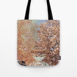 Park Slope Tree Flowers Tote Bag