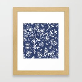 Abstract tree and bees Framed Art Print