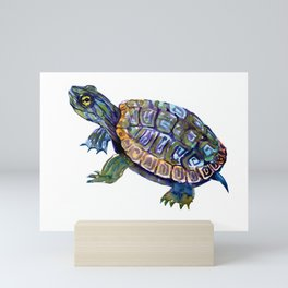 Slider Baby Turtle artwork Mini Art Print