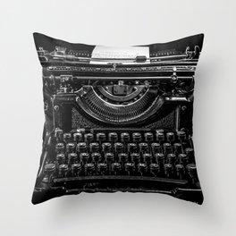 Old Typewriter Throw Pillow