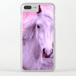 Pink Horse Celestial Dreams Clear iPhone Case