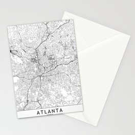 Atlanta White Map Stationery Cards