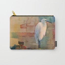 Snowy Egret Sunrise Carry-All Pouch